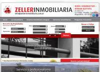Sitio web de Zeller inmobiliaria