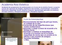 Sitio web de Academia Rosi Estetica