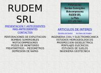 Sitio web de Perforaciones Rudem SRL Estudios de Suelos