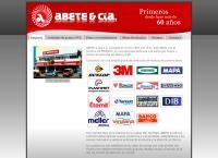 Sitio web de Abete y cia. S.A. artículos de goma y pvc