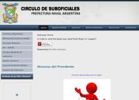 Sitio web de Circulo de Suboficiales de la Prefectura Naval Argentina