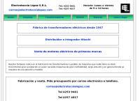 Sitio web de Electrotecnia López S.R.L. fabricación de transformadores y autotransformadores