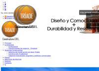 Sitio web de Viviendas Triade - Casas Prefabricadas