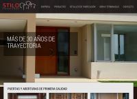 Sitio web de Stilo Aberturas