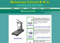 Sitio web de Balanzas Llinas SRL