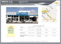 Sitio web de Megui SA