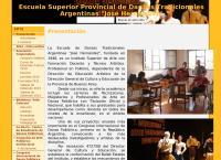 Sitio web de Instituto Superior de Form.escuela de Danzas Tradicionales Argentinas
