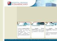 Sitio web de Hospital Privado Sudamericano