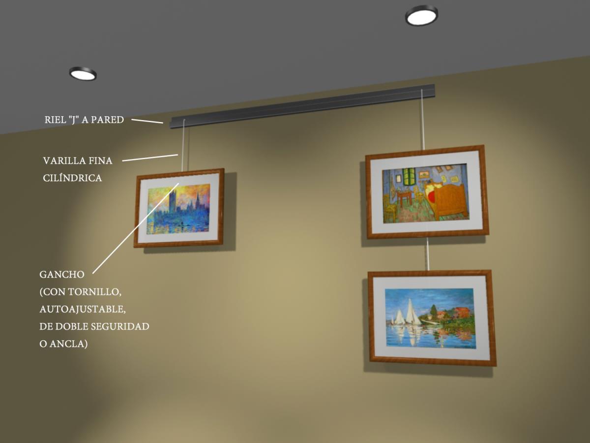 Rieles para colgar cuadros ikea vxbo marco para fotos - Rieles colgar cuadros ...