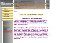 Sitio web de Quality consultant group