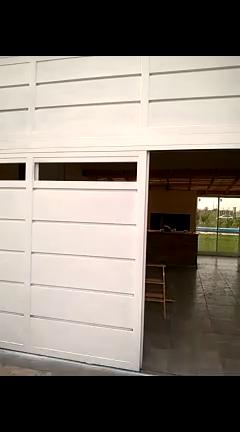 portón corredizo doble