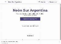 Sitio web de NEON SUR Argentina